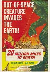 Постер 20 миллионов миль от Земли