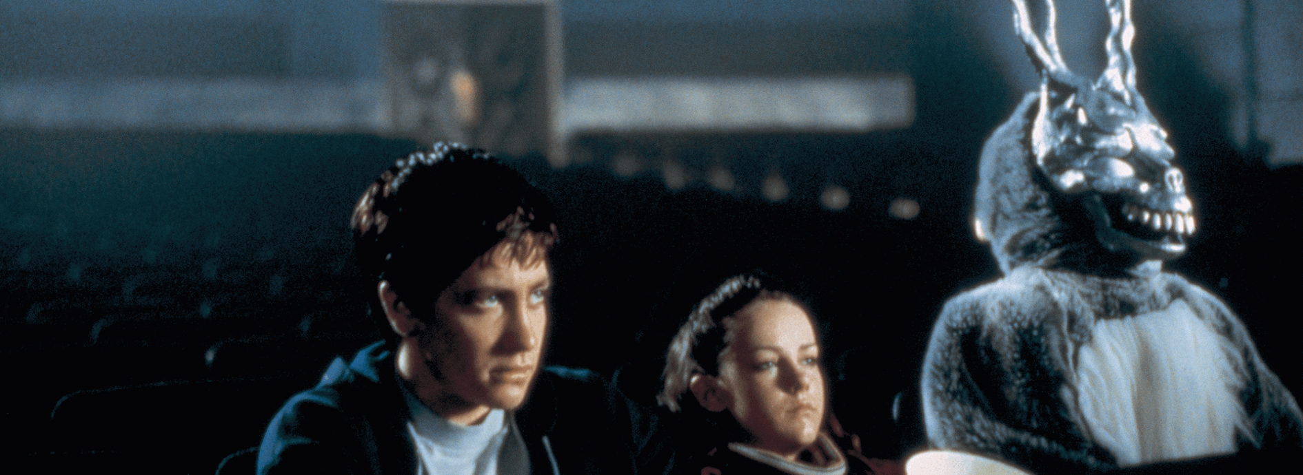 film review donnie darko Donnie darko like blair witch is an exercise, a preamble to a film, that would make a decent short flick on the indie film circuit, but blown up to feature length, the cracks shown and the holes become apparent  out of.