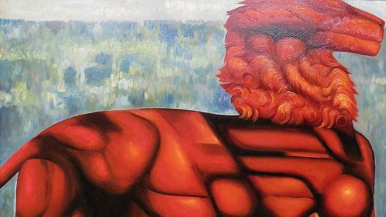 Григорий Лесухин. Красный лев и цветущая сакура