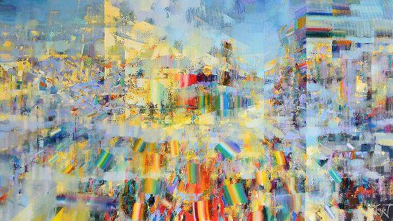Новогодяя выставка-продажа работ художников галереи