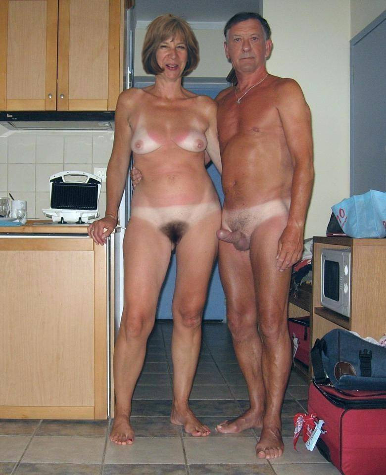 Excited Nude nudist couples are not