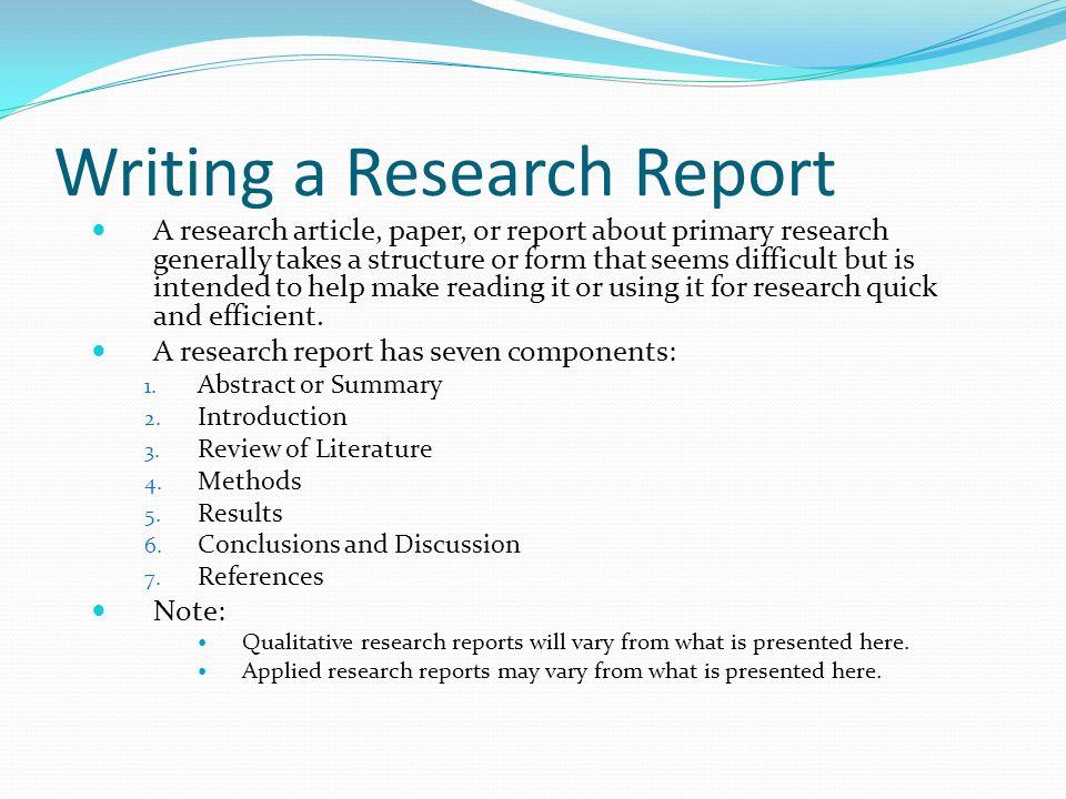 Qualitative research paper