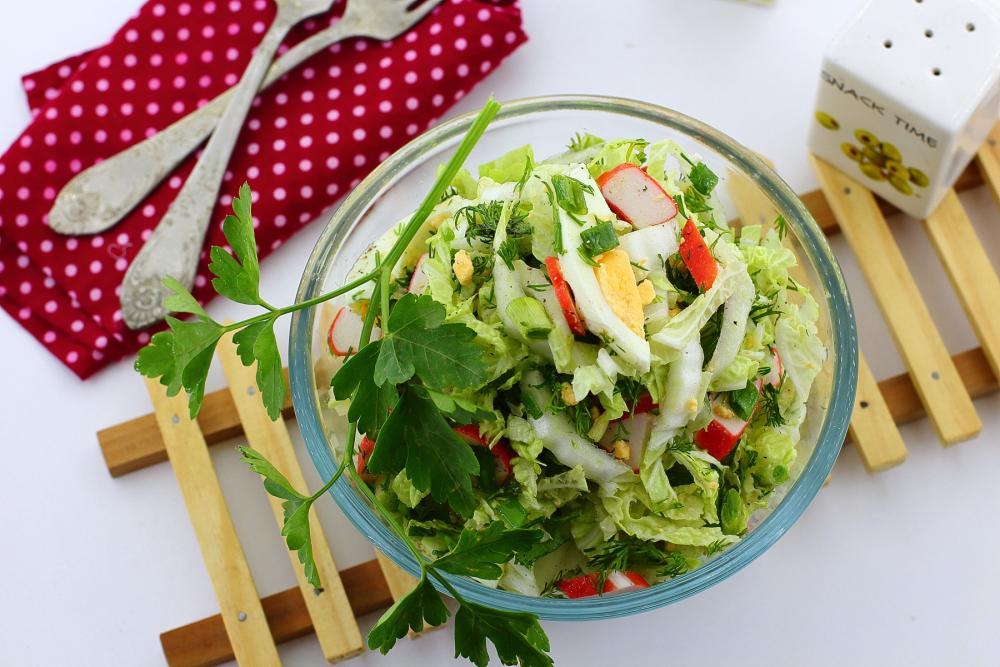 Легкие салаты из пекинской капусты для похудения