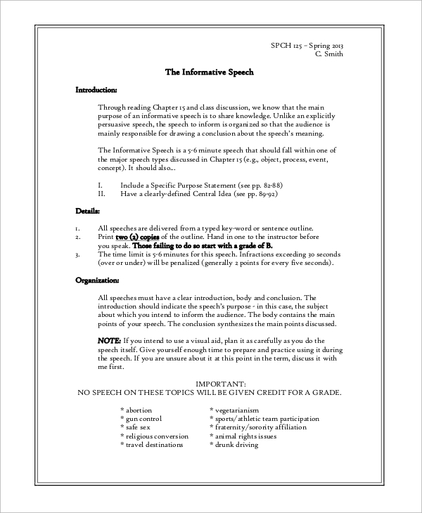 Free speech essay example