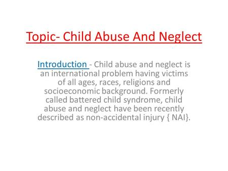 Child abuse thesis