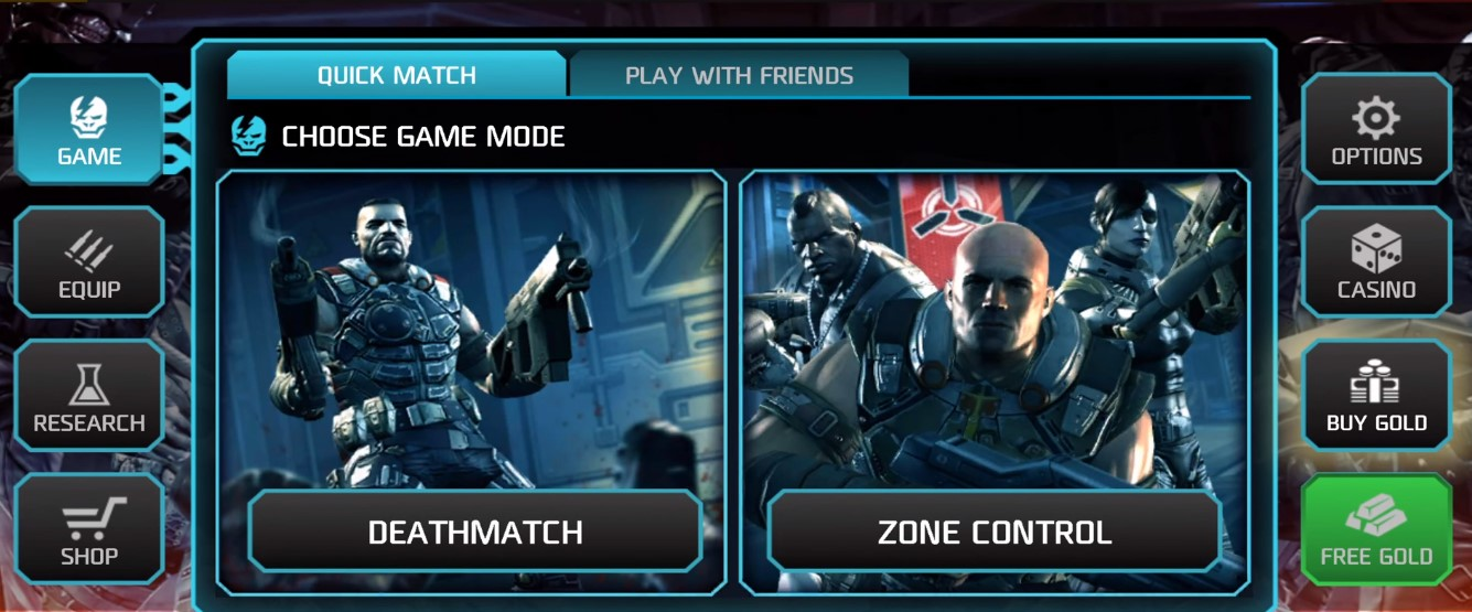 Shadowgun deadzone connect to matchmaking server