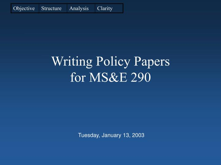 Write my policy analysis paper