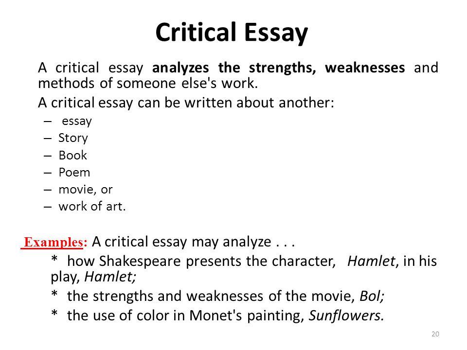 writing a critical essay