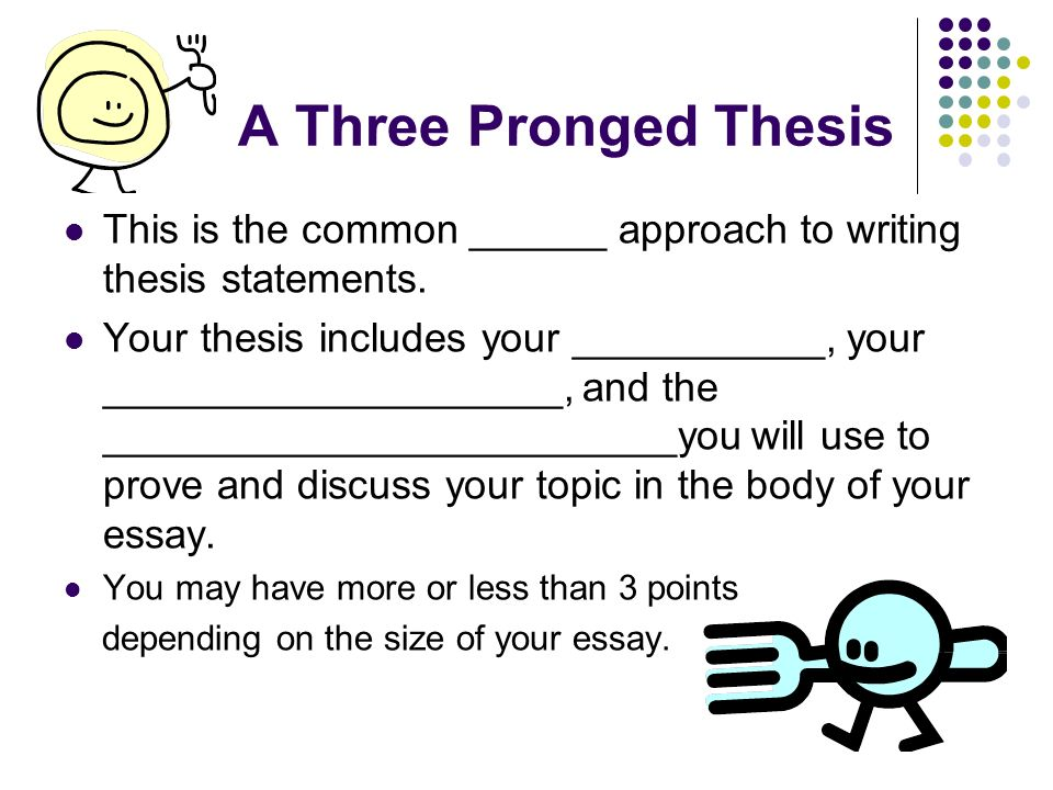 Thesis Statement - Definition and Guidelines - Statistics
