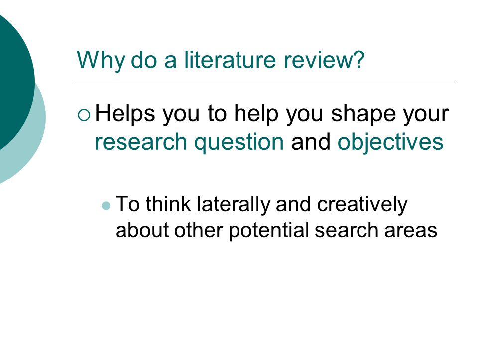 Write my literature search in research