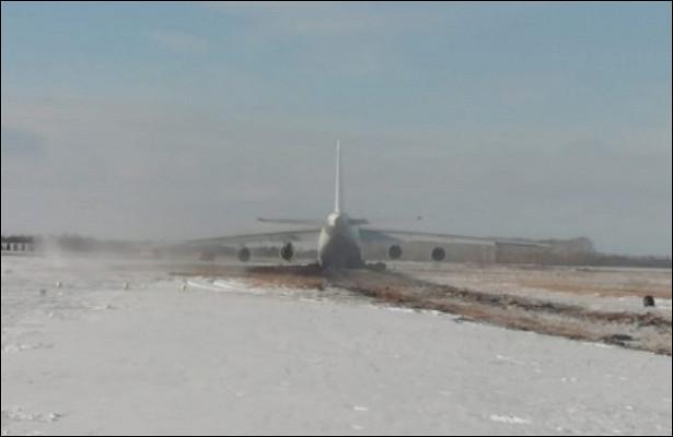 Ан-124съехал сВППновосибирского аэропорта