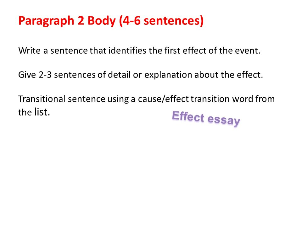 Write my best cause and effect essays