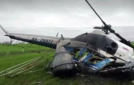 Пилот разбившегося наКубани вертолета невыжил