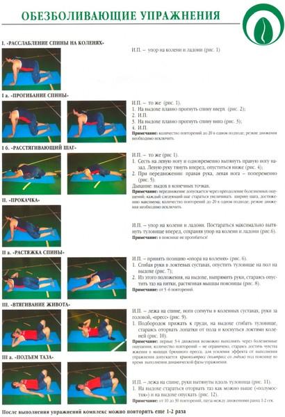 Гимнастика при поясничном остеохондрозе в домашних условиях видео