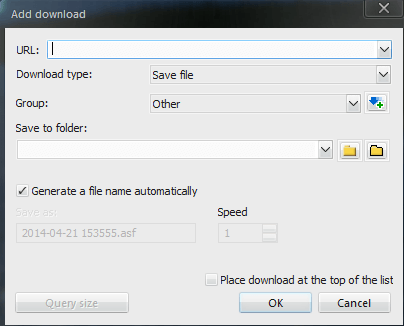 Download URL content and save to file (not