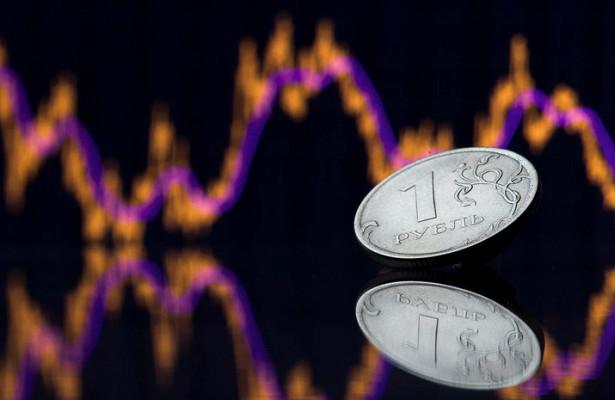 Рубль снижается кдоллару иевро