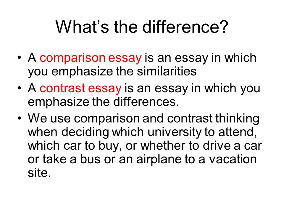 Buy comparing essay
