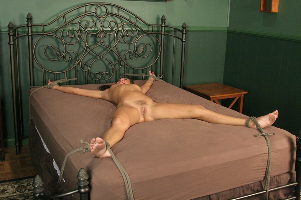 Shaved chained spread eagle 9