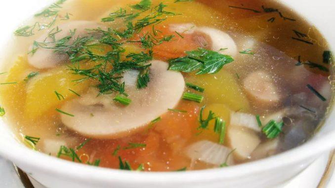 Суп грибной с мясом рецепт с фото