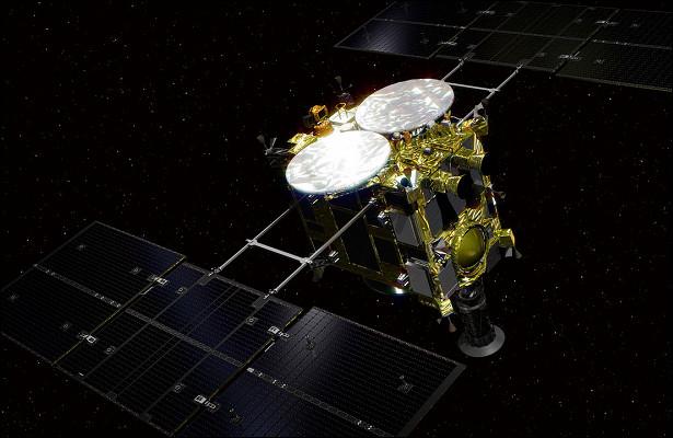 Зонд сбросил наЗемлю образцы грунта сРюгу