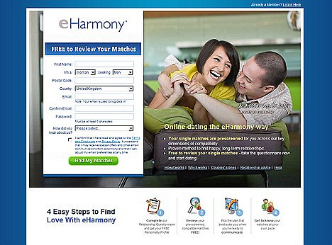 Online dating eharmony reviews
