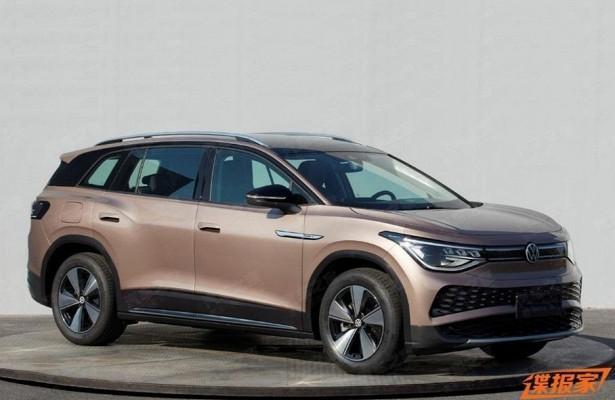 Появились первые изображения серийного Volkswagen ID.6размером сTouareg