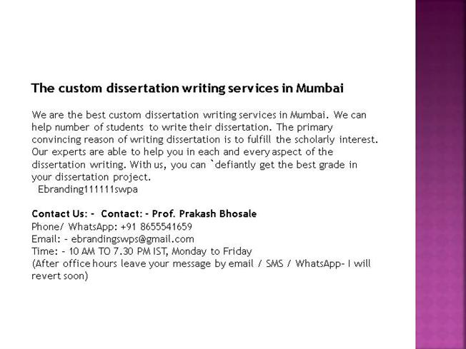 Write my project and dissertation
