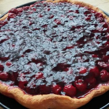 Рецепт Вишневый пирог натворожном тесте