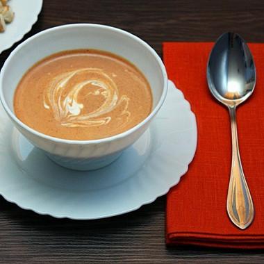 Рецепт Томатный суп-пюре сосливками
