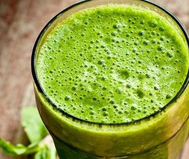 Рецепт Зеленый смузи сапельсиновым соком