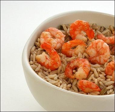 Рецепт Рис срыбой иморепродуктами