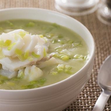 Рецепт Суп-пюре изрыбы изеленого горошка