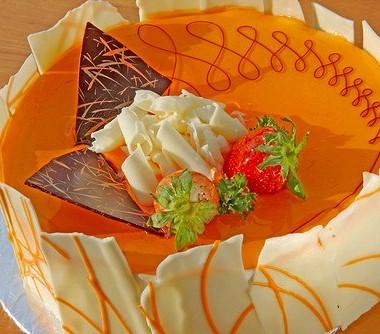 Рецепт Воздушный апельсиновый торт