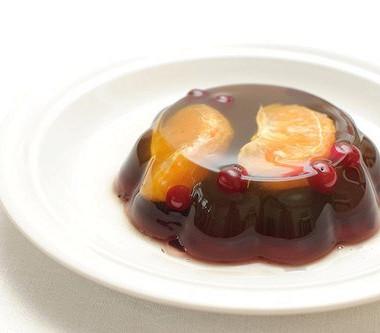 Рецепт Апельсиновое желе свишней ибелым вином
