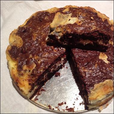Рецепт Брауни сосливочным сыром ималиной