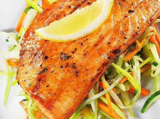 Кисло-сладкий лосось