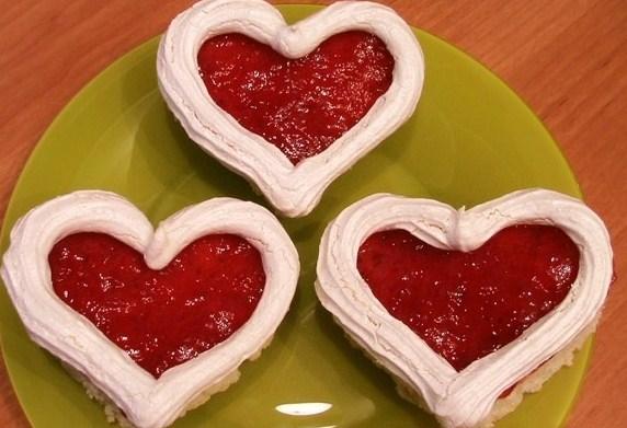 Пирожное «Валентинки»