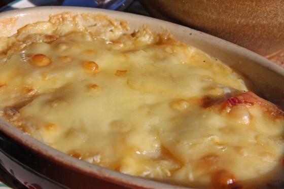 Запеканка с баклажанами, сыром и грибами