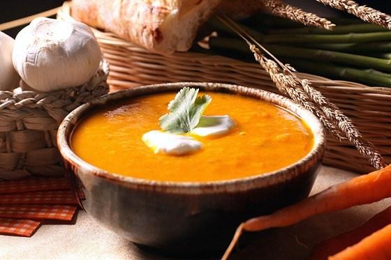 Морковный суп с мятой