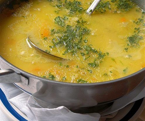 Куриный суп с говядиной