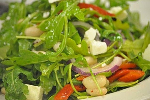 салат с руколой и сыром фета рецепт