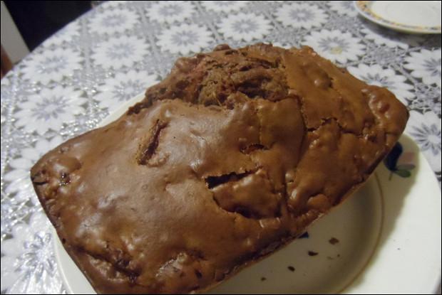 Кекс пышный с яблоками