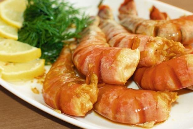 креветки запеченные в соусе