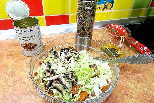 Тосканский деревенский салат