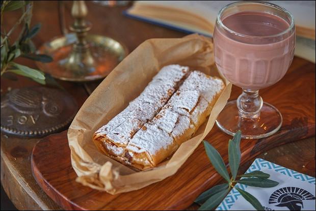 Пирог из манки и какао