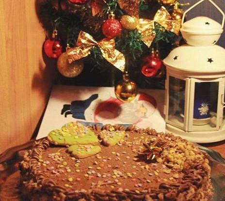 Ленинградский торт с малиной