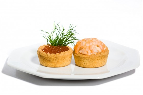 Тарталетки с креветками