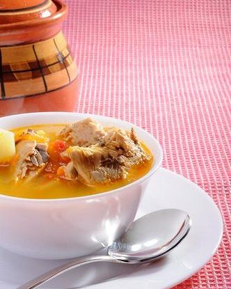 Суп морковный с макрелью