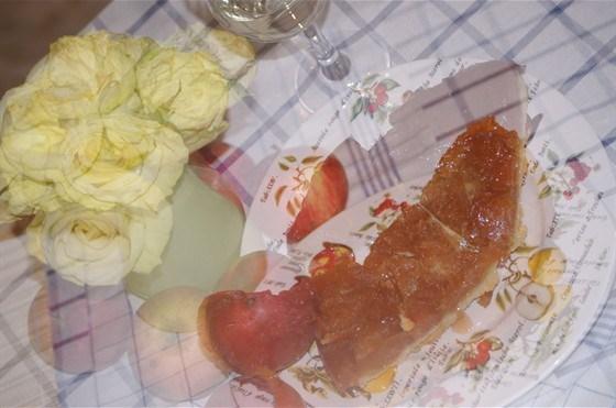 Пирог татен с яблоками и розмарином
