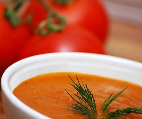 Суп-пюре из помидоров с рисом